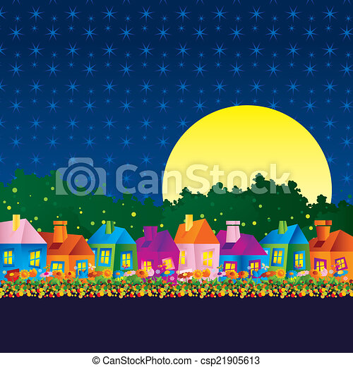 Caricature Background Drawings Background Caricature House