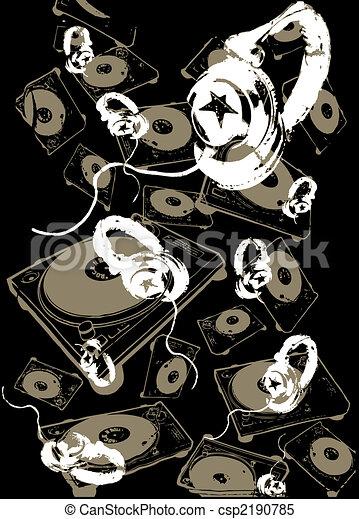 Music headphone background - csp2190785