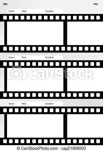 Vector Clipart Of Storyboard Film Template Vertical  Professional