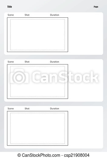 Vector Clipart Of Professional Of Film Storyboard Template