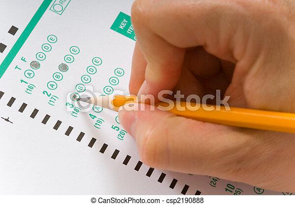 Taking an exam - csp2190888