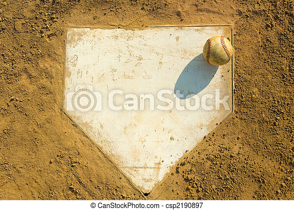Baseball on Home - csp2190897