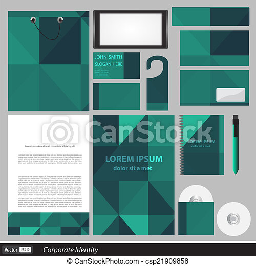 Clipart Vector of Classic stationery template design ...