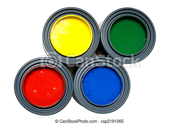 Primary color paints - csp2191065
