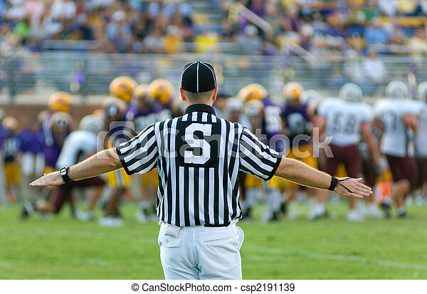 American Football Official - csp2191139