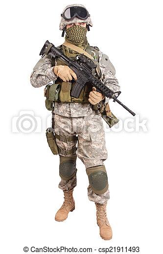 US soldier - csp21911493