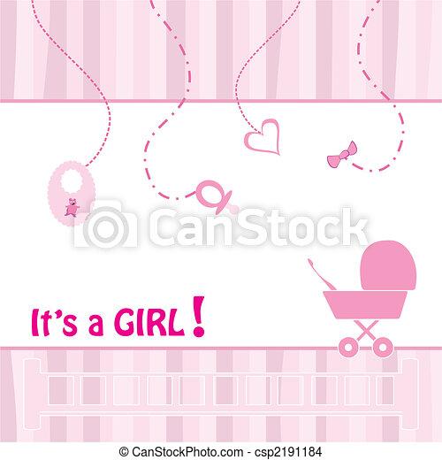 Birth Announcement Card - csp2191184