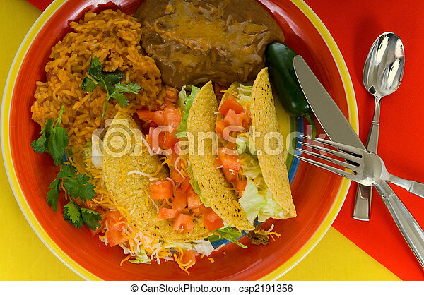 Mexican food plate - csp2191356