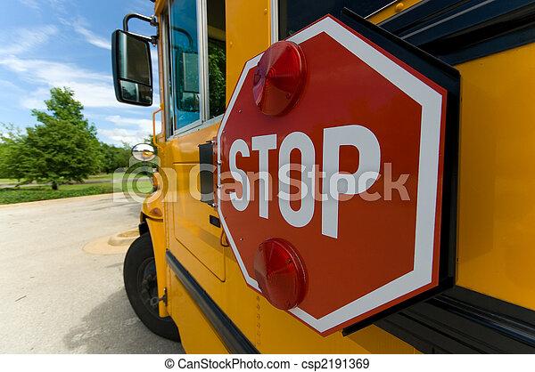 School bus stop sign - csp2191369