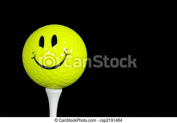 Happy Face Golfball - csp2191484