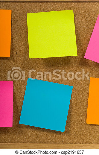 Sticky notes on a board - csp2191657