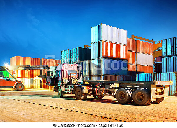 Night Container Terminal