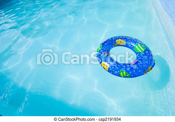 Swim Ring in Pool - csp2191934