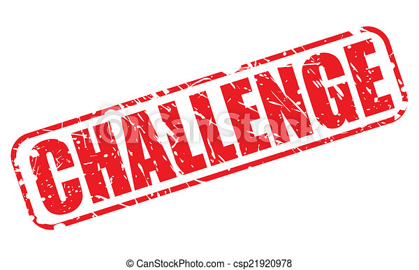 Vectors Illustration Of Challenge Red Stamp Text On White Csp21920978 Search Clipart
