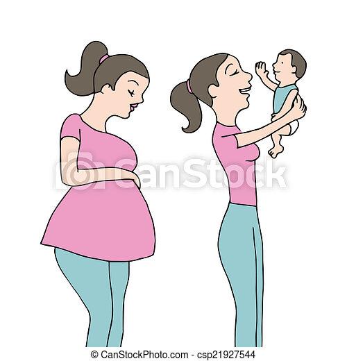 Eps vector de reci n nacido madre un imagen de un for Recien nacido dibujo