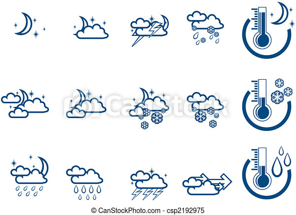 Weather Forecast Drawings Weather Forecast Vector Icone