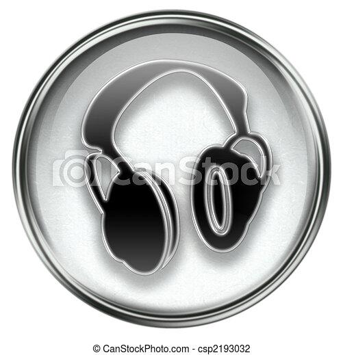 headphones icon grey - csp2193032