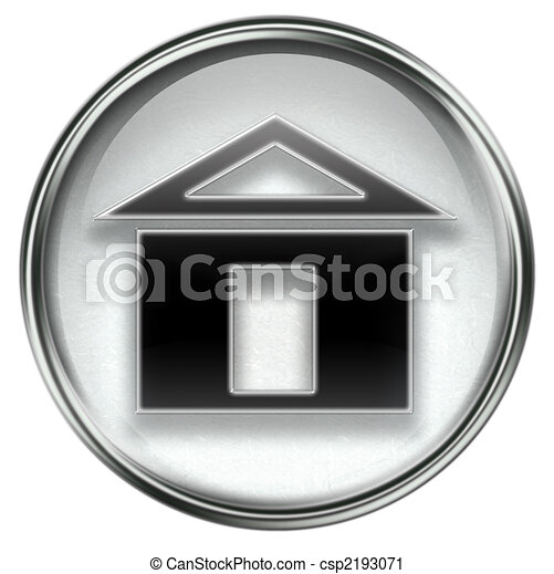 home icon grey, isolated on white background - csp2193071