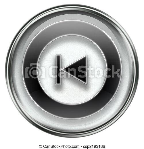 Back Icon Logo Rewind Back Icon Grey