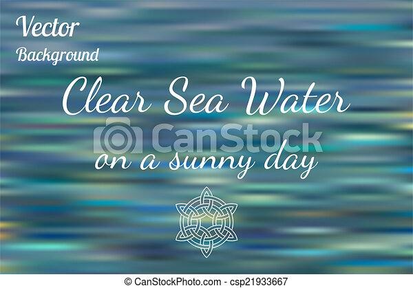 Blurred sea water background  - csp21933667