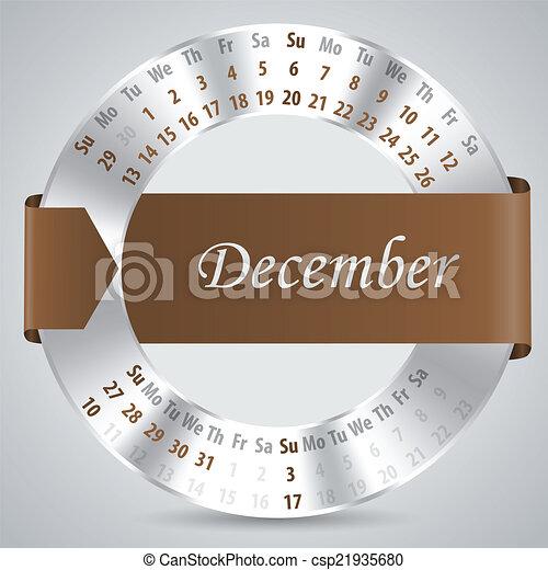 2015, 12月, カレンダー, デザイン , csp21935680