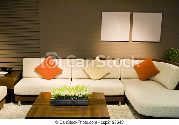 Luxury modern living room - csp2193643