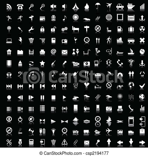 170 icons set - csp2194177