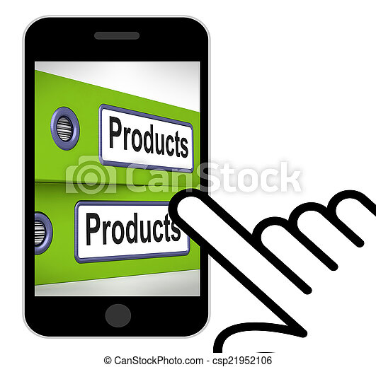 Products Folders Displays Goods And Merchandise For Sale - csp21952106