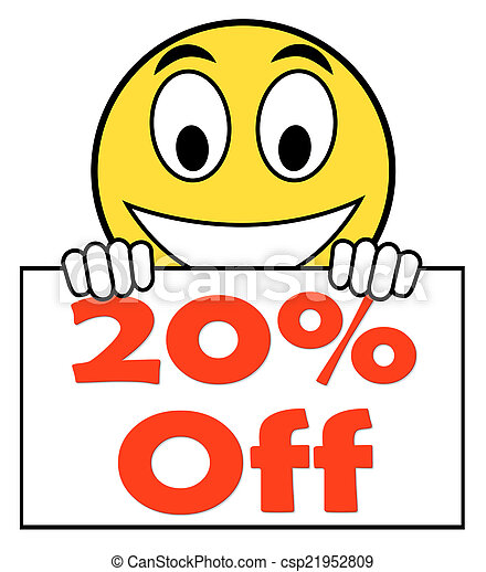 Discount or 20 off - stock image, images, royalty free photo, stock