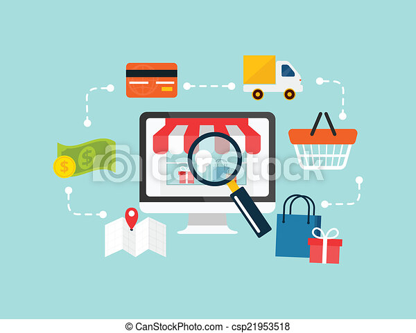 Stock vector e commerce - csp21953518
