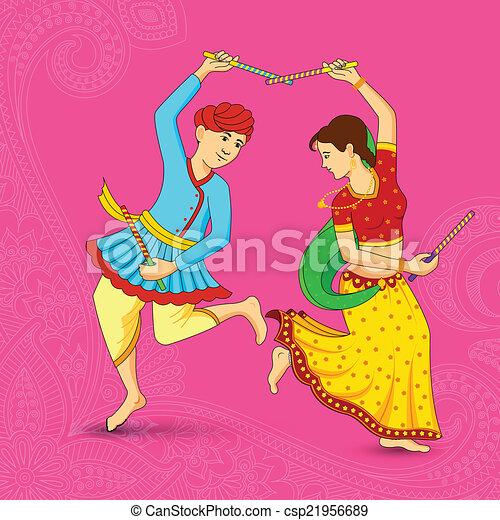 royalty free illustrations  stock clip art icon  stock clipart    Dandiya Dance Clipart