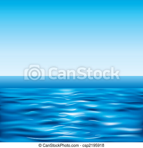 Blue Sea And Clear Sky - csp2195918