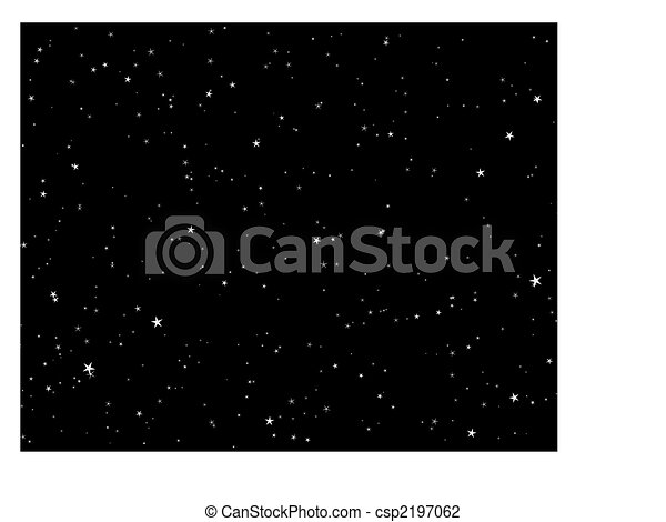 night starry sky - csp2197062
