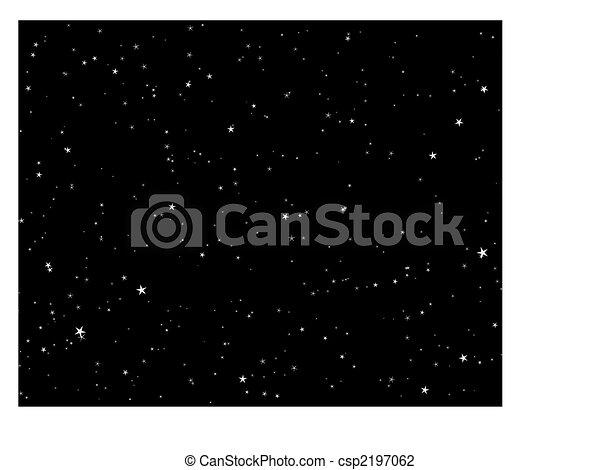 noche, estrellado, cielo - csp2197062
