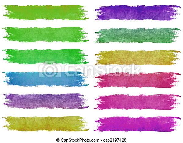 Paint Brush Strokes - csp2197428