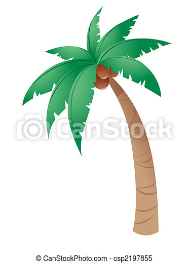 Stock Illustrations of Coconut tree isolated in a white ...