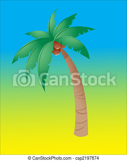 Coconut tree - csp2197874