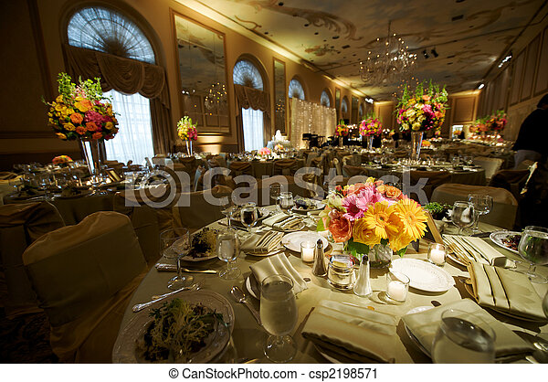 High End Wedding Reception - csp2198571