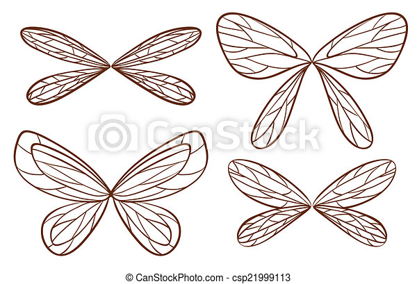 Art of Simple sketches of fairy wings - Illustration of the simple ...