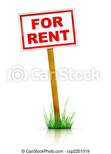 For Rent Sign - csp2201019