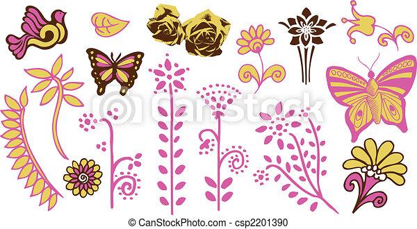 Flower garden Stock Illustrations 147319 Flower garden clip art