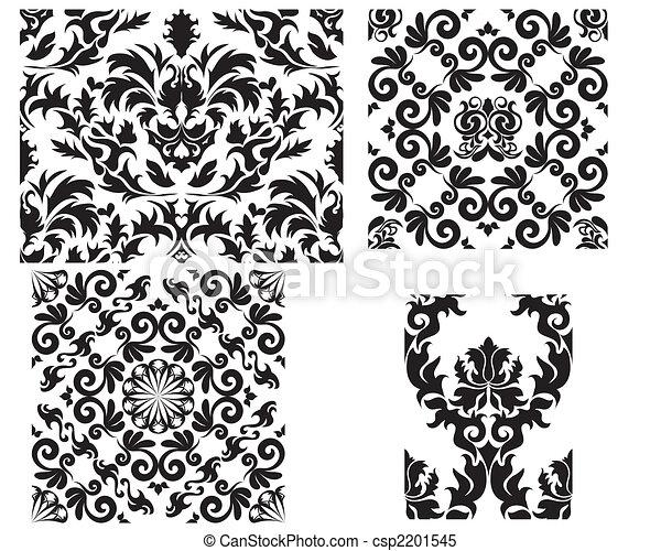 damask seamless pattern - csp2201545