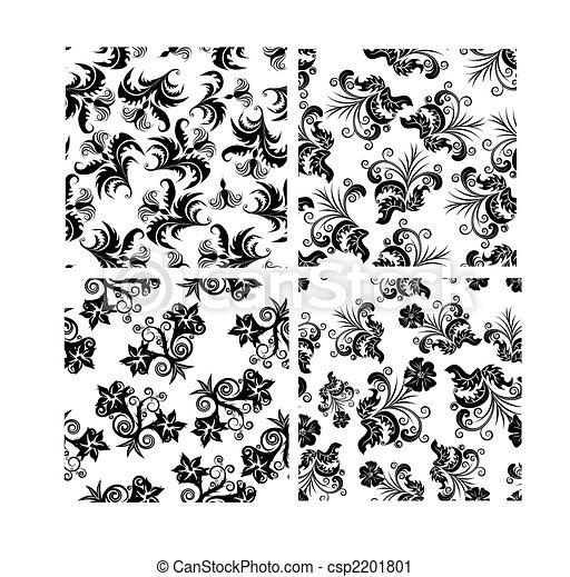 floral seamless set - csp2201801