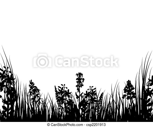 meadows plant  silhouette - csp2201913