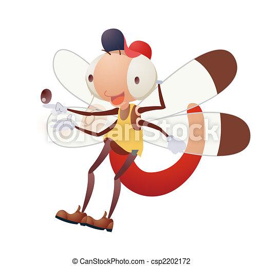 cartoon Insect - csp2202172