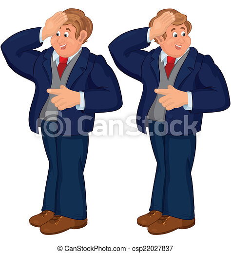 Man In Suit Standing Clip Art