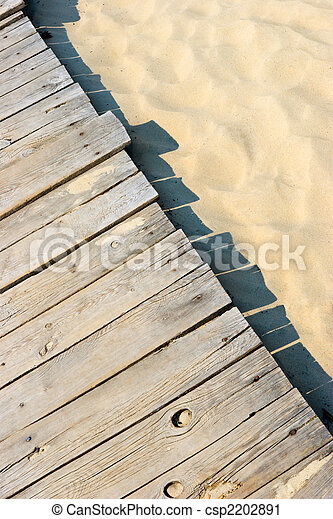 Sandy boardwalk - csp2202891