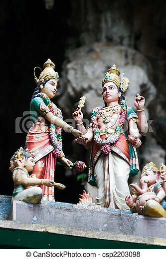 Hindu Temple in Batu Caves  - csp2203098