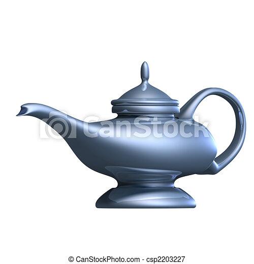 Aladdins magical lamp - csp2203227