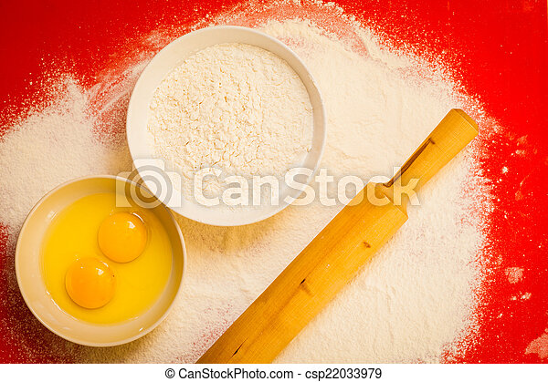 Picture Of Preparation For Baking Bake Ingredients